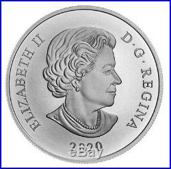 Canada $20 Pure Silver Coin, Brazilian Aquamarine Tiara, Swarovski UNC 2020