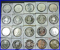 Canada Roll (20 Coins) Superb Gem Bu 1963 Silver Dollars