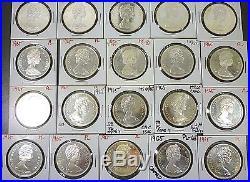 Canada Roll (20 Coins) Superb Gem Bu 1965 Silver Dollars