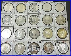 Canada Roll (20 Coins) Superb Gem Bu 1966 Silver Dollars