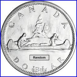 Canada Silver Dollar $1 0.6 oz Roll of 20 BU PL Coins in Tube Random Date