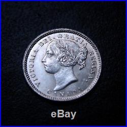 Canada Victoria 1887 Uncirculated Silver 10 Cent Rare KM# 3