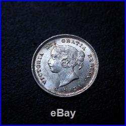 Canada Victoria 1887 Uncirculated Silver 5 Cent Rare KM# 2