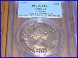 HIGH GRADE PCGS PL 66 1955 Silver Dollar ARNPRIOR (Prooflike) Canada