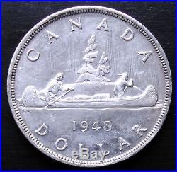 Key Date 1948 Canada Silver Dollar Uncirculated
