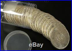 L@@K - Full Roll (20) 1964 Canadian Uncirculated 80% Silver Dollars Canada
