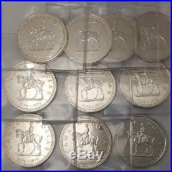 Lot of 10 1973 RCMP Mountie Canada Silver Dollars UNCIRCULATED #coinsofcanada