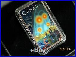 Lot of 4 Shag Harbour 1 oz 9999 Silver Bar $20 Canada 2019 UFO Incident