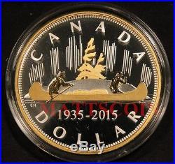Masters Club 2015 Canada 2 oz Silver & Gold Renewed Voyageur Dollar IN HAND