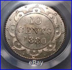 Newfoundland Canada 1880 PCGS Ten 10 Cent Silver Dime Specimen 64 Maritime Coin