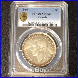 PCGS MS 64+ 1949 Canada Silver Dollar