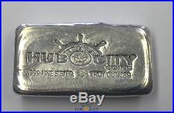 Rare Hub City Coins Canada 5oz. 999 Fine Silver Hand Poured Bars