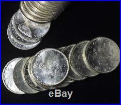 Roll of 1966 Canada Dollar in Pristine Condition, 800 Silver, 0.6 oz, Free Ship