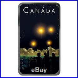 SHAG HARBOUR UFO Incident #2 Glow-in-the-Dark 1oz Silver Coin $20 Canada 2019