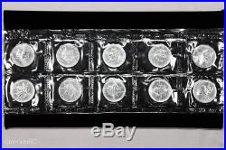 Sealed Set of Ten Uncirculated 1997 Canada $5 Silver Maple Leaf Coins