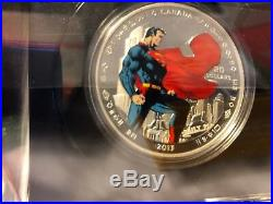 Super Rare Canada DC Comics Superman Ultimate 10 Coin set Silver. 9999 Pure
